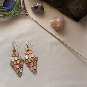 3 FOR $12 EARRINGS!! Tri-colored earrings